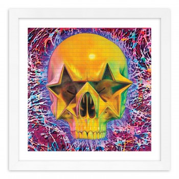 Starskull> Blotter Paper Artwork Print Art by Ron English