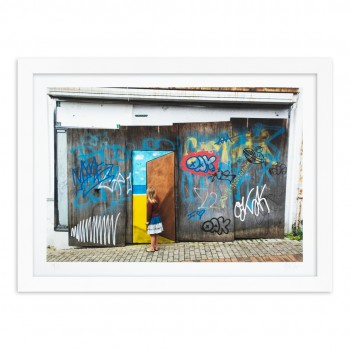 Escape Door #9> Limited Hand Embellished Print by OakOak