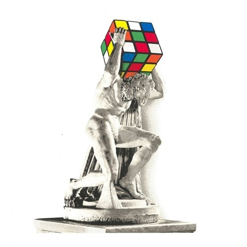 Atlas- Standard> Limited Silkscreen Print by Mr Brainwash x Rubik