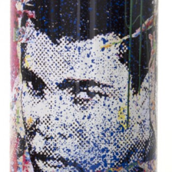 Champ- Blue> Limited Spray Paint Can Artwork by Mr Brainwash