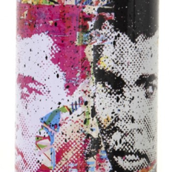 Champ- Black> Limited Spray Paint Can Artwork by Mr Brainwash