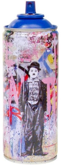 Gold Rush- Blue> Limited Spray Paint Can Artwork by Mr Brainwash