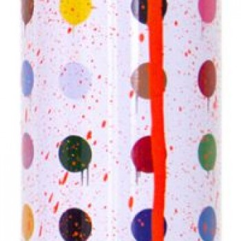 Hirst Dots- Orange> Limited Spray Paint Can Artwork by Mr Brainwash