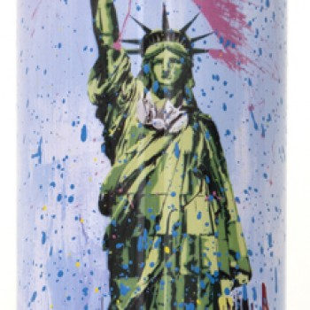 Liberty- Cyan> Limited Spray Paint Can Artwork by Mr Brainwash