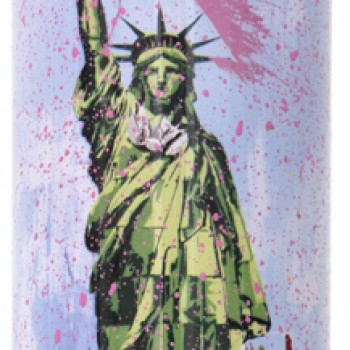 Liberty- Pink> Limited Spray Paint Can Artwork by Mr Brainwash