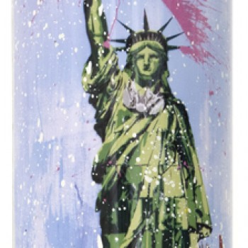 Liberty- White> Limited Spray Paint Can Artwork by Mr Brainwash