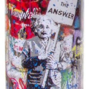 Love is the Anwser- Cyan> Limited Spray Paint Can Artwork by Mr Brainwash