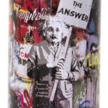 Love is the Anwser- Pink> Limited Spray Paint Can Artwork by Mr Brainwash