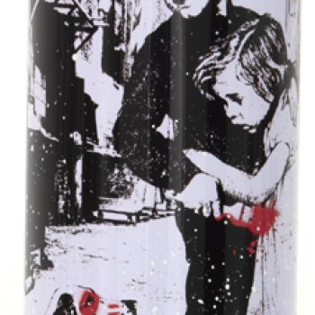 Pup Art- White> Limited Spray Paint Can Artwork by Mr Brainwash