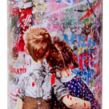 Work Well Together- Red> Limited Spray Paint Can Artwork by Mr Brainwash