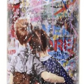 Work Well Together- White> Limited Spray Paint Can Artwork by Mr Brainwash