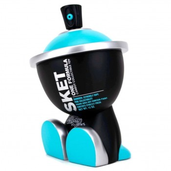 Cyan Formula Canbot> Limited Run Vinyl Art Toy by Sket-One x Clutter