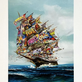 Oil and Water IV: The Year that Took the Wind Out of Our Sails> Limited Edition Giclee Print by Dave Pollot