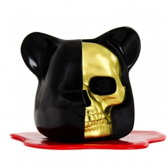 Dissected Bear Head- Black/Gold- Blood Pool
