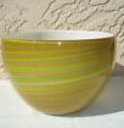 Filigrana Striped Large Bowl- Yellow
