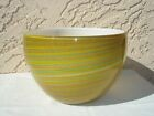 Filigrana Striped Large Bowl- Yellow> Original Italian Murano Artwork by Cenedese