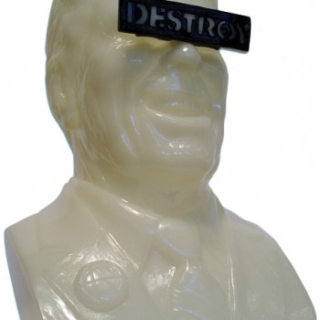 The Gipper Ultra Violence- Glow In The Dark> Limited Run Vinyl Art Toy by Frank Kozik