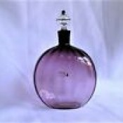 Glass Decanter Bottle & Stopper- Amethyst