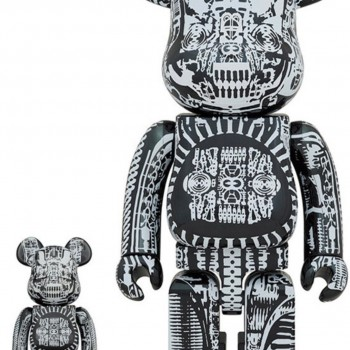 HR Giger- Black Chrome 100% & 400%> Rare Limited BE@RBRICK Art Toy