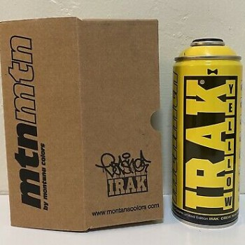 IRAK Earsnot- Light Yellow> Montana MTN Spray Paint Can Limited Edition