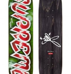 Lee Quinones Logo Deck- Red