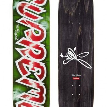 Lee Quinones Logo Deck- Red> Limited Art Skateboard by Supreme