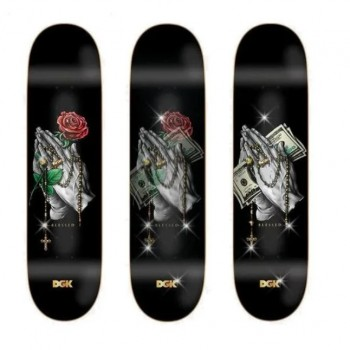 Rosary Lenticular Deck- 8.25> Limited Art Skateboard by DGK