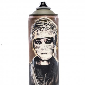 Salvage Can 3> Original Spray Paint Can Sculpture by Eddie Colla
