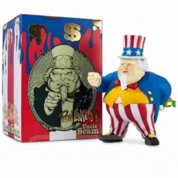 Uncle Scam- Red White Blue OG> Limited Run Vinyl Art Toy by Ron English