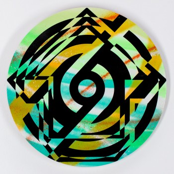 Psychedelic Fusion- 03> Original Laser Cut Wood by Tavar Zawacki (Above)
