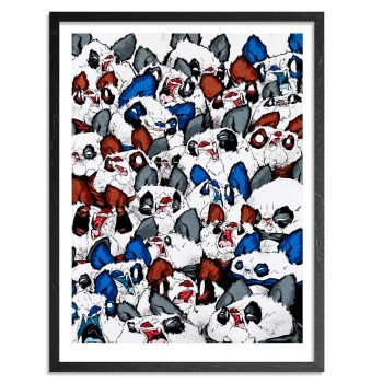 Fangs And Furballs> Limited Edition Print by Woes Martin- Angry Woebots
