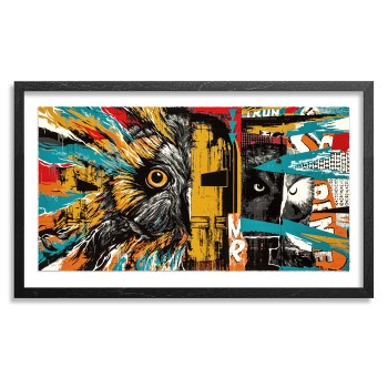 Iron Pueo> Limited Edition Print by Bask & Meggs