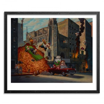 Barrels Of Fun- 18 x 15> Limited Edition Print by Bob Dob