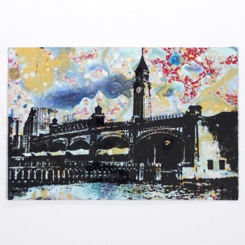 Lackawanna Hoboken NJ> Limited Hand Embellished Print by Bobby Hill