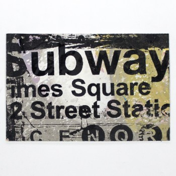 Subway> Limited Hand Embellished Print by Bobby Hill
