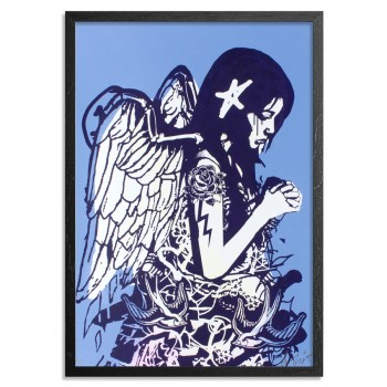 Fallen Angel- Blue> Limited Edition Print by Copyright