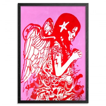 Fallen Angel- Pink> Limited Edition Print by Copyright