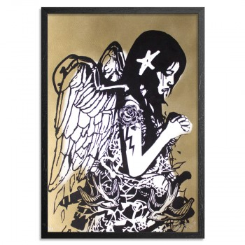 Fallen Angel- Gold> Limited Edition Print by Copyright