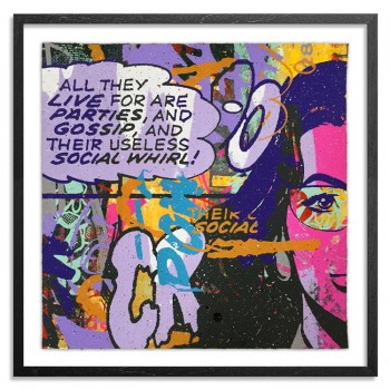 Parties & Gossip 18> Original Mixed Media Painting by Greg Gossel