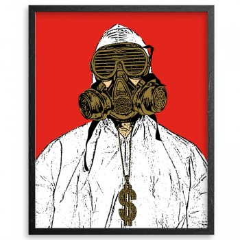 Male Extractor> Limited Silkscreen Print by Hygienic Dress League