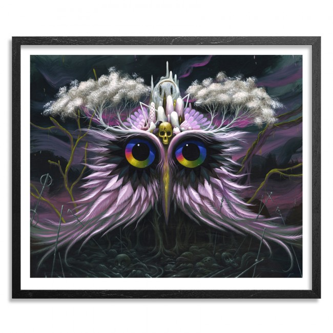 Owl Of Infinite Knowledge> Limited Edition Print by Jeff Soto