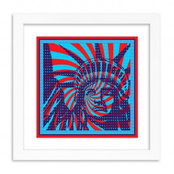 Liberty> Blotter Paper Artwork Print Art by John Van Hamersveld