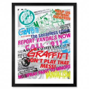 Anti-Graffiti Propaganda Case Study No.1> Limited Edition Print by Roger Gastman